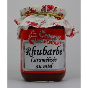 Rhubarbe caramélisée au miel