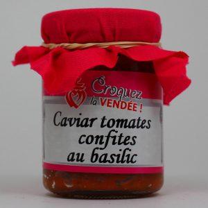 Caviar de tomates confites au basilic