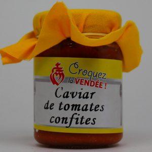 Caviar de tomates confites
