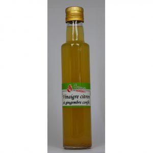 Vinaigre gingembre et citron confits 250ml